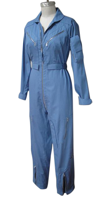 flight suit front blue